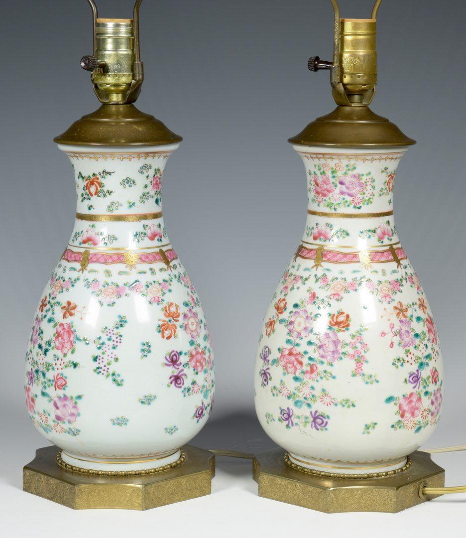Lot 22: 6 Pcs of Asian Porcelain, incl. Grisaille