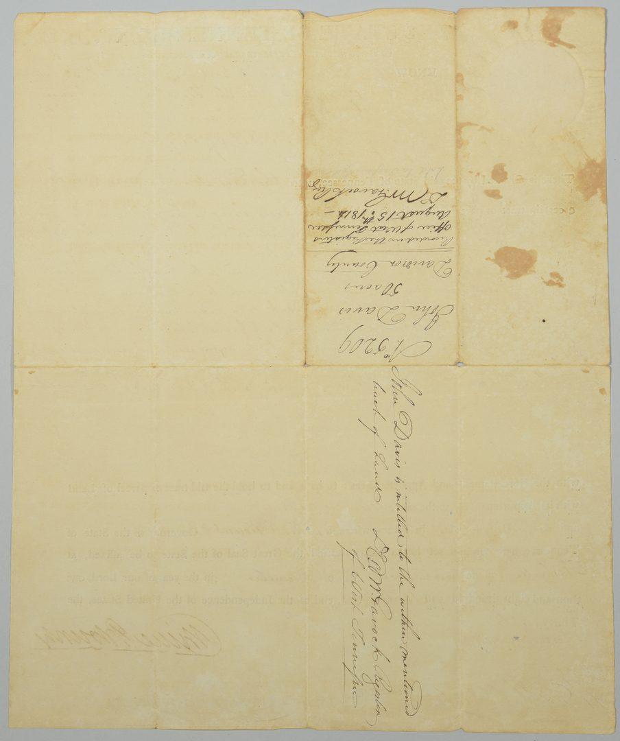 Lot 232: Pair of Gov. Willie Blount Land Grants