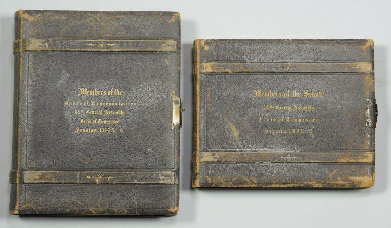 Lot 233: 2 CDV Albums: TN Legislature, 1875-76