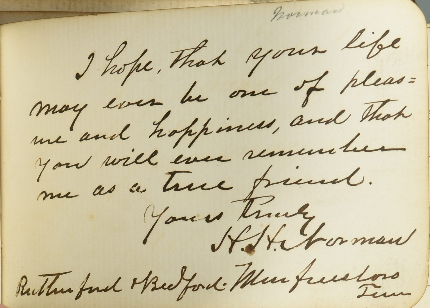 Lot 235: 1875 TN House Members Autograph Book