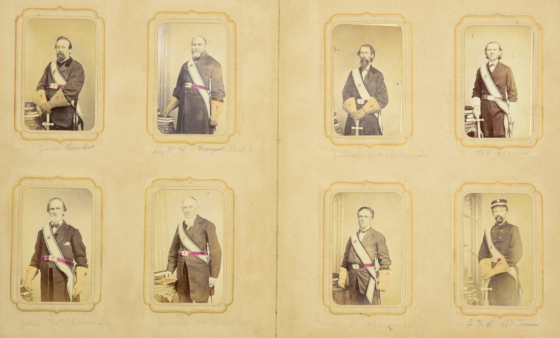 Lot 236: C.C. Giers Masonic Photo Album, inc. Andrew Johnson