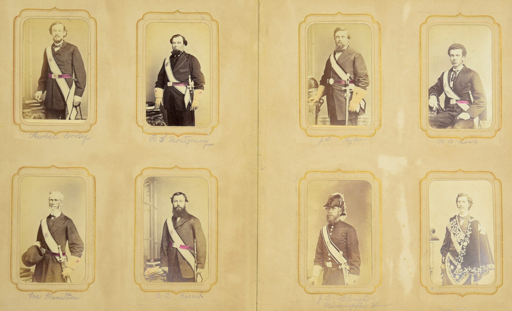 Lot 236: C.C. Giers Masonic Photo Album, inc. Andrew Johnson