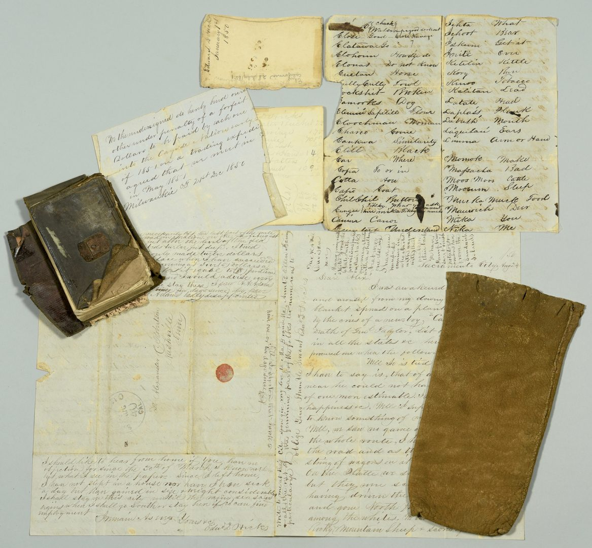 Lot 237: Gold Rush Diary, Artifacts of Ed Hicks, TN