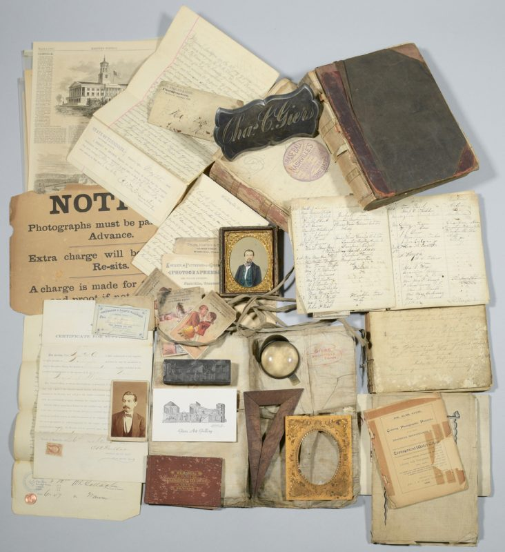 Lot 240: Giers Photo Gallery Account Books, Archive