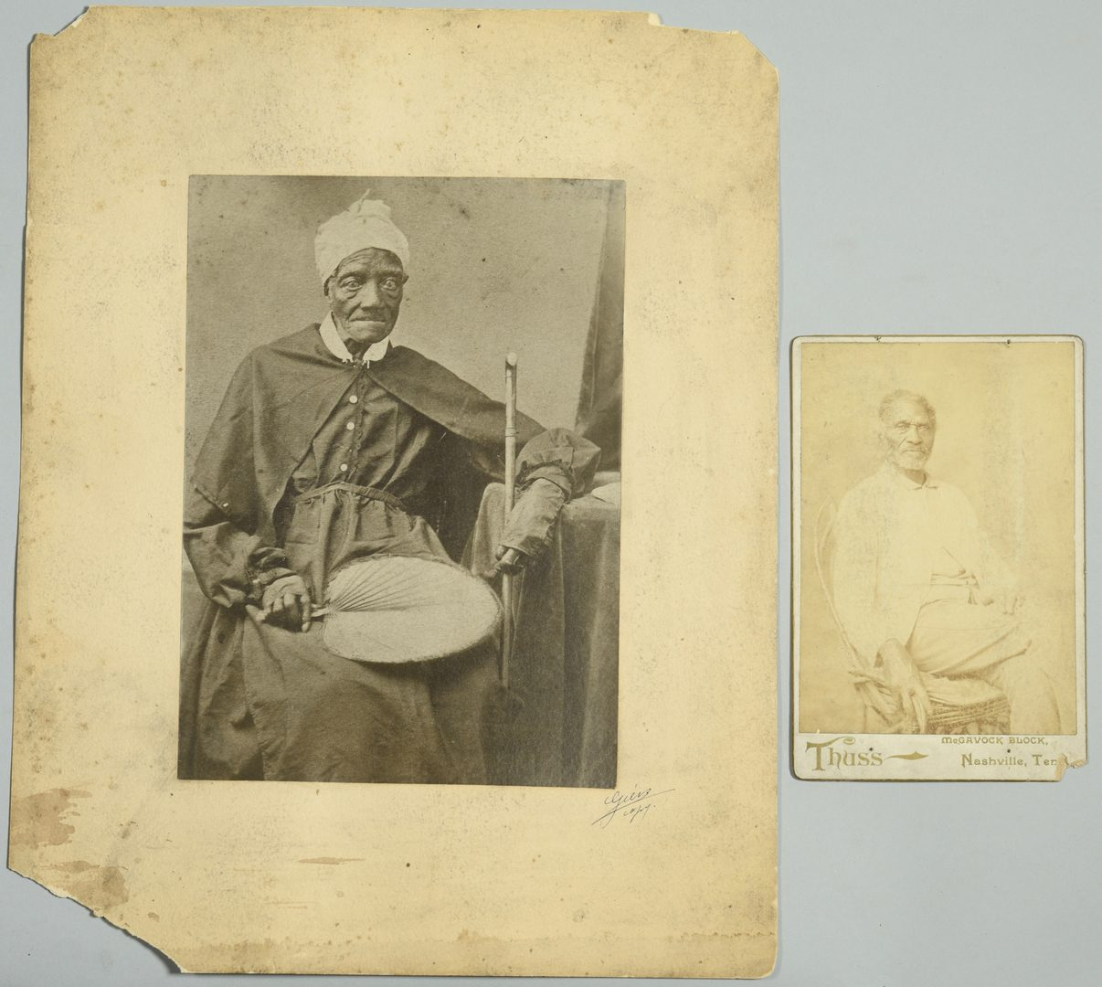 Lot 242: 2 Giers Portraits of African Americans