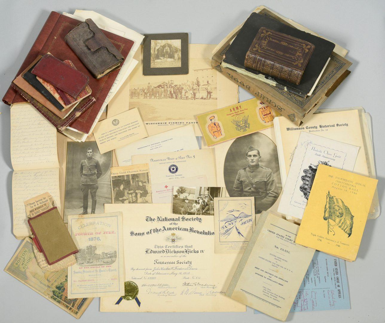 Lot 243: Hicks Family Archive, TN