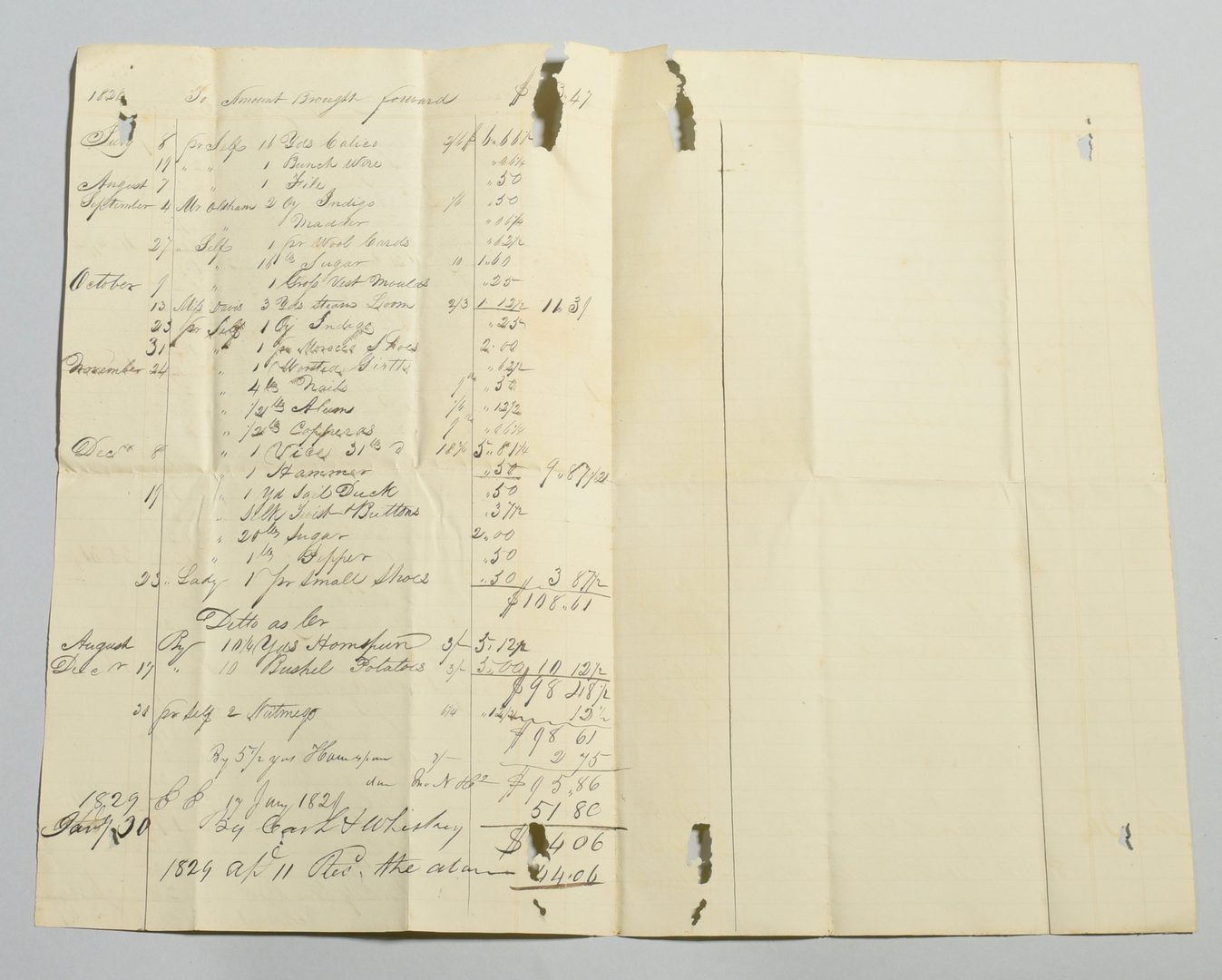 Lot 245: Harding Family archive, account book