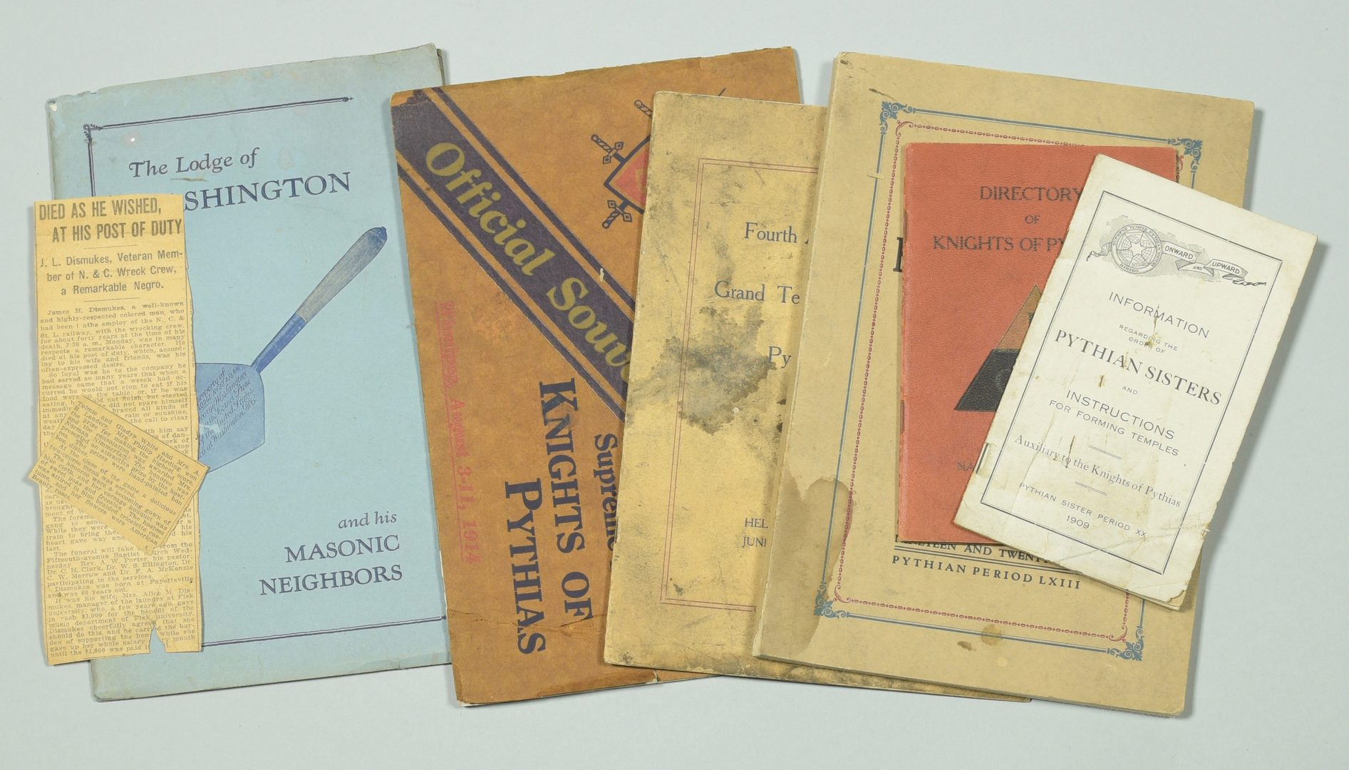 Lot 249: Archive of Masonic Items