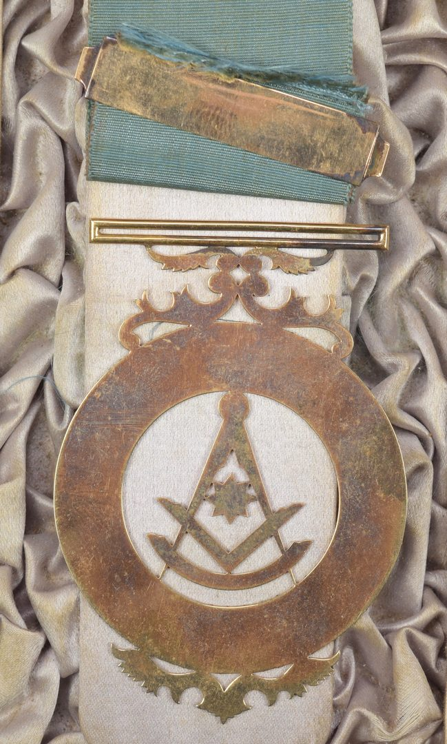 Lot 251: Giers Masonic Medals plus Buckle and Photo