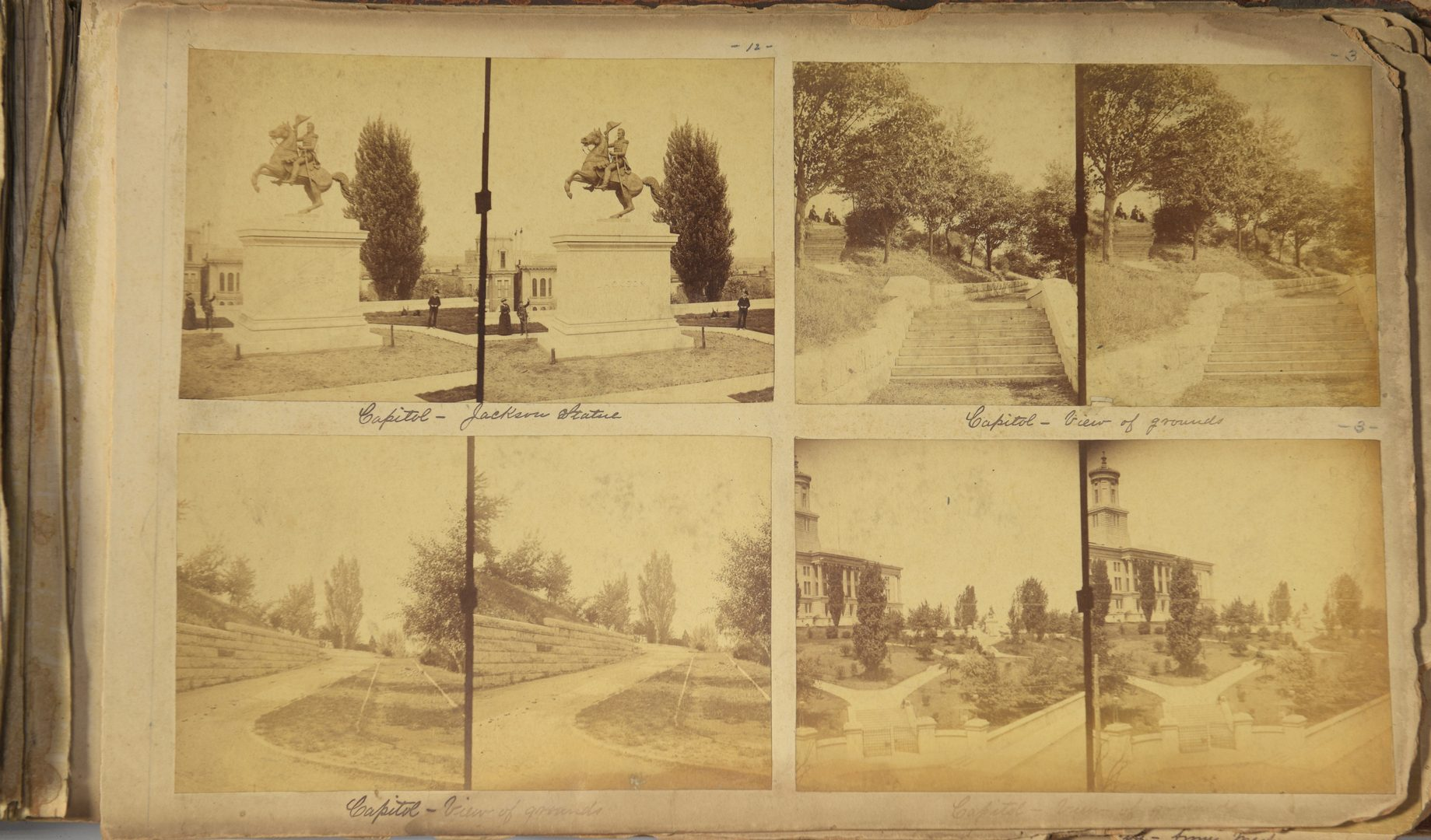 Lot 254: Giers Nashville Archive 1 – Album of Stereoview Images