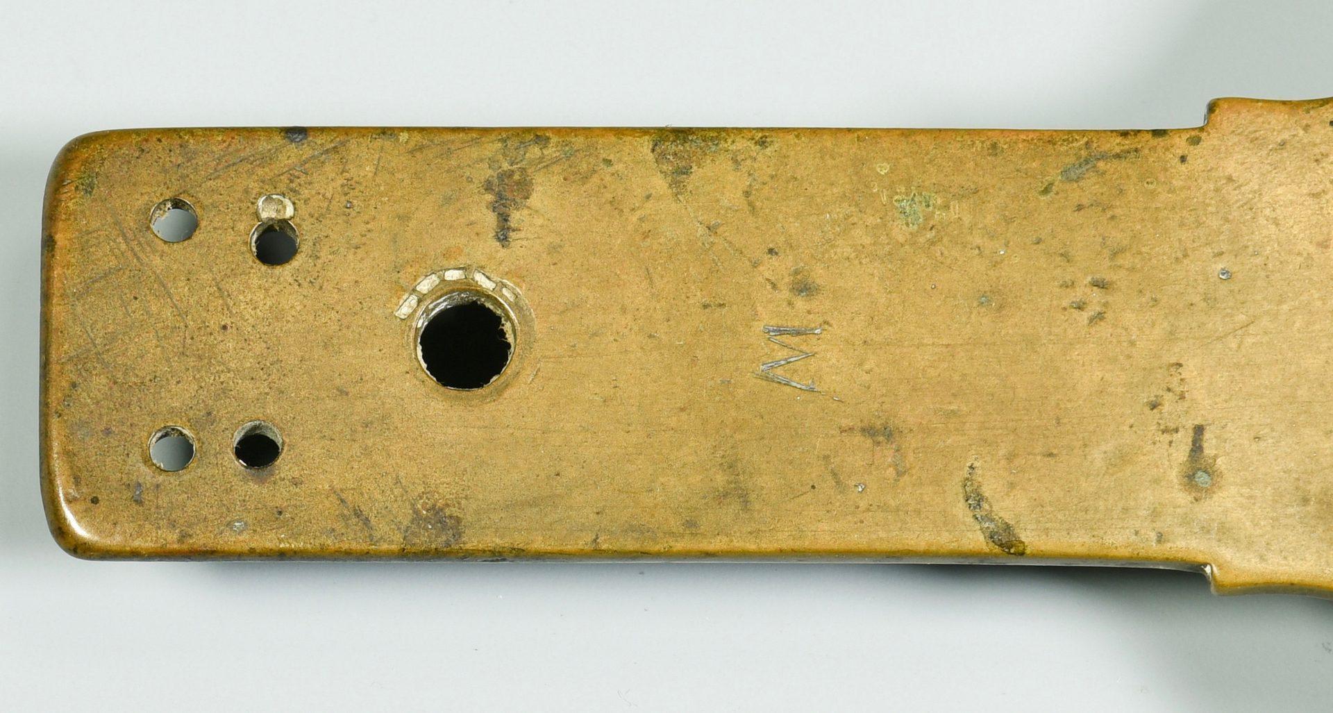 Lot 257: John Davis's Brass Surveyor Compass and Scale