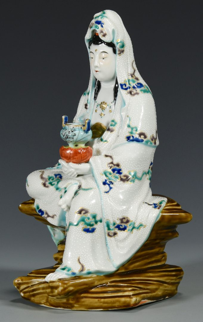 Lot 25: Chinese Porcelain Guan Yin Figure