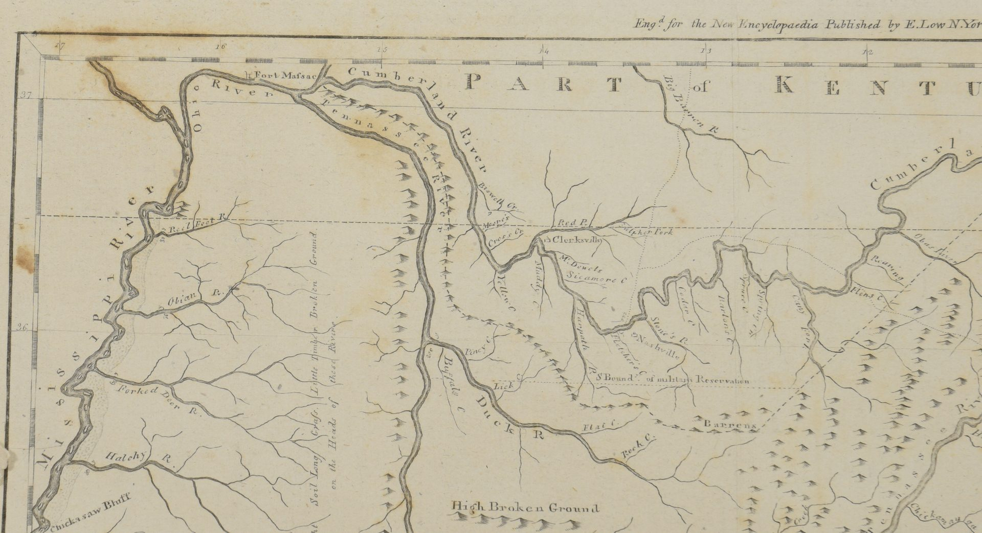 Lot 263: A Map of the Tennassee [sic] Government from the latest Surveys 1810, John Payne