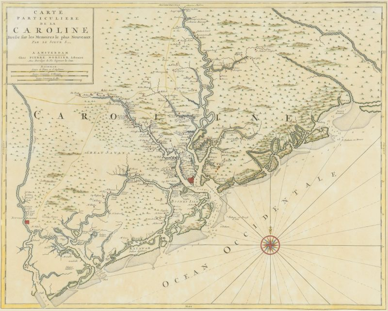 Lot 265: Important Early South Carolina Map 1696