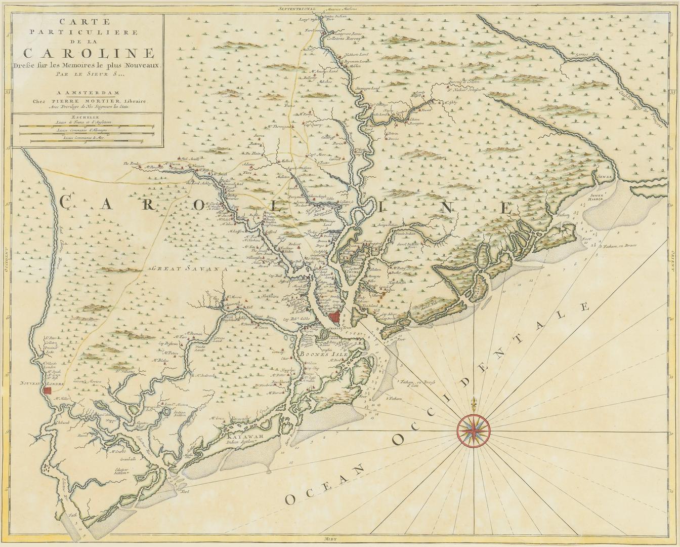 Lot 265 Important Early South Carolina Map 1696
