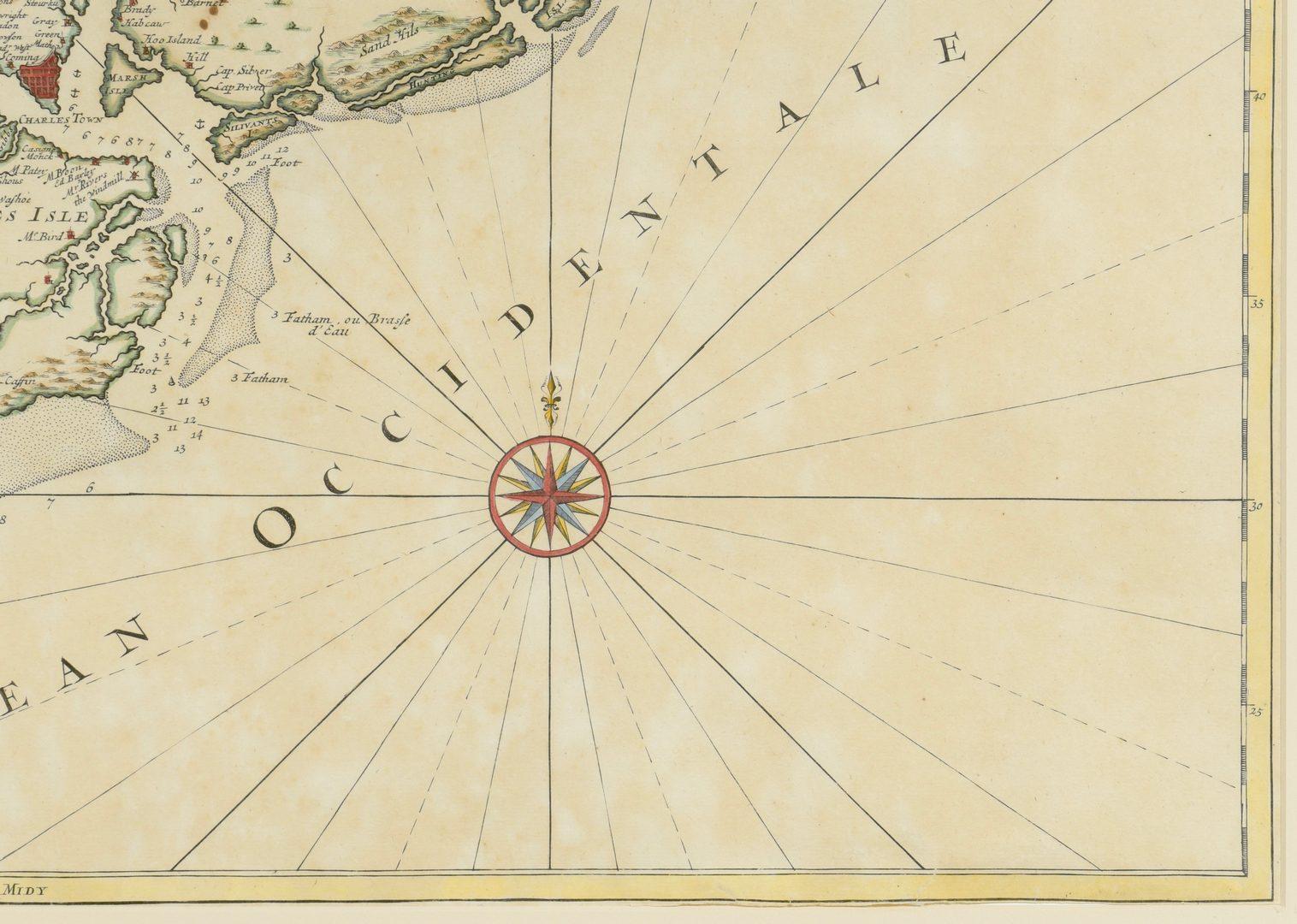 Lot 265: Important Early South Carolina Map 1696