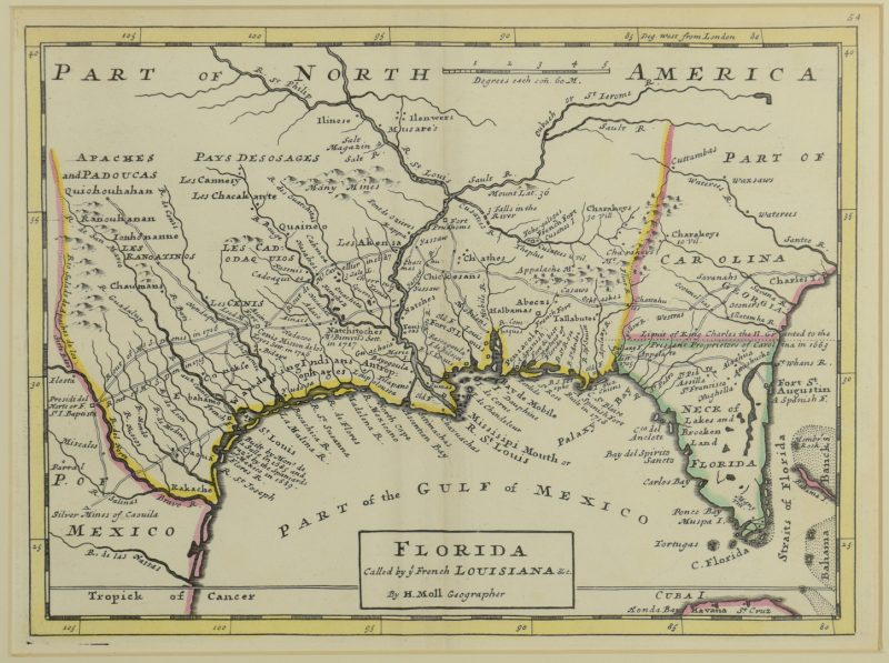 Lot 268: 18th c. Florida Map – Herman Moll