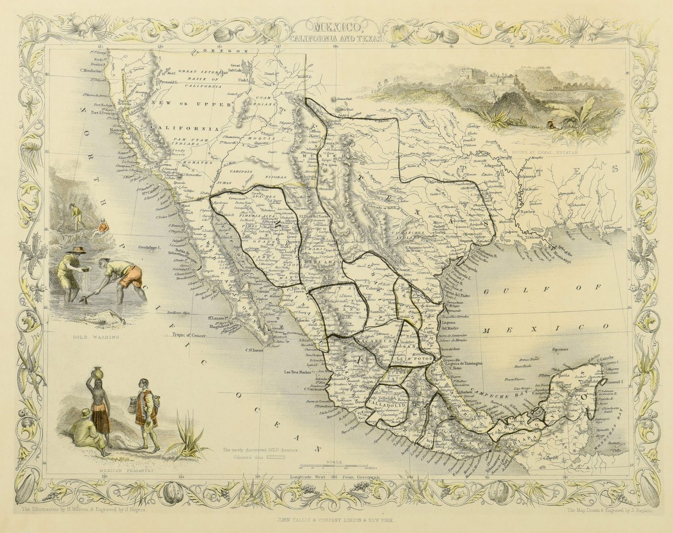 Lot 269: 2 Texas Maps inc. Greenleaf, Tallis