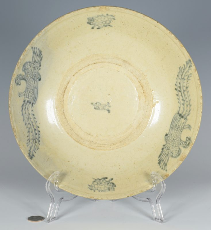 Lot 26: Early Asian Period Bowl, Phoenix Decoration