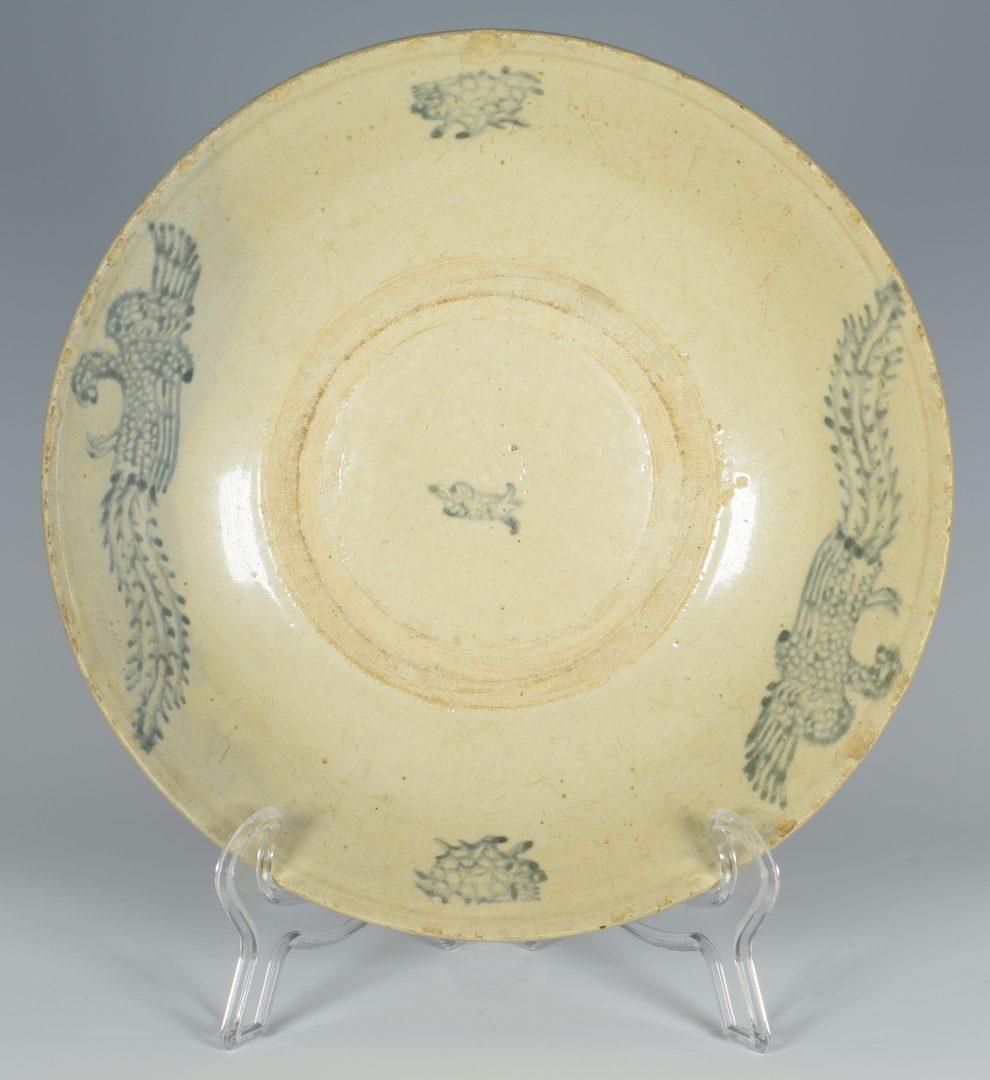 Lot 26: Early Asian Period Bowl, Phoenix Decoration