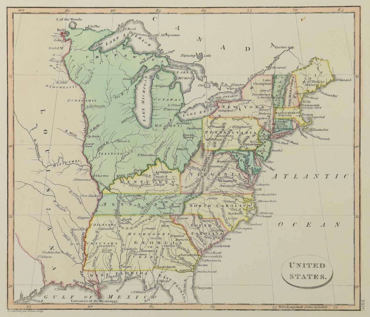 Lot 270 2 Maps Of Us 18th Century