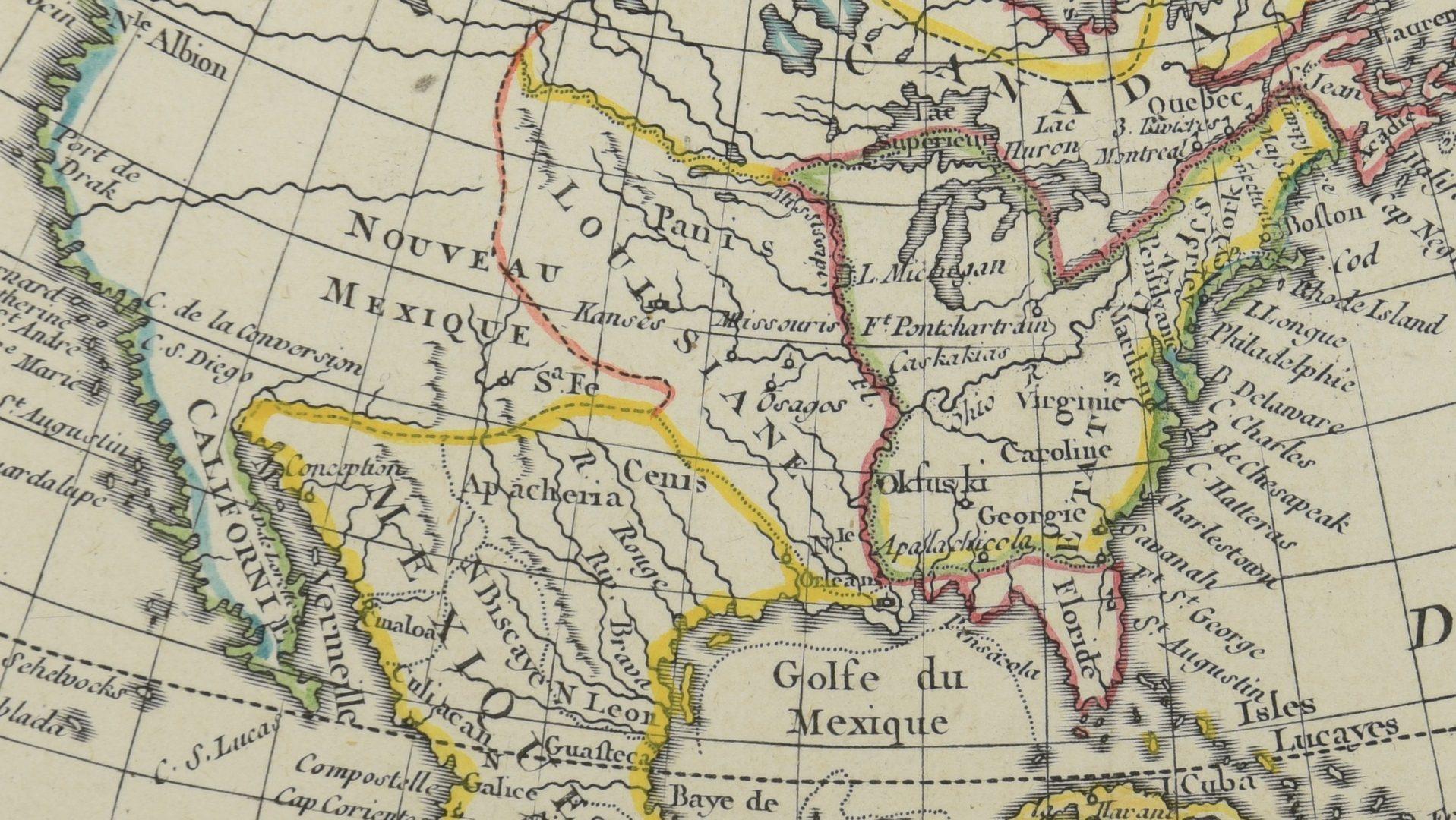 Lot 270: 2 Maps of US – 18th century