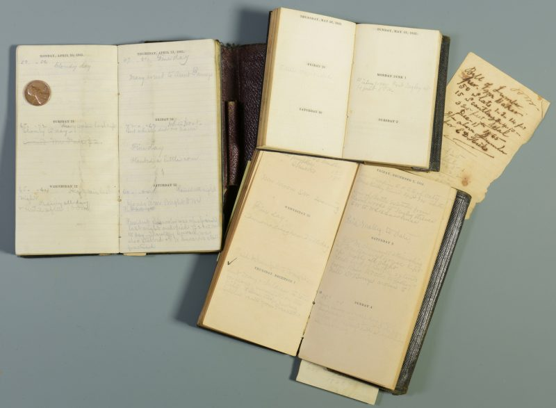 Lot 274: Civil War Era Diary of E.D. Hicks II