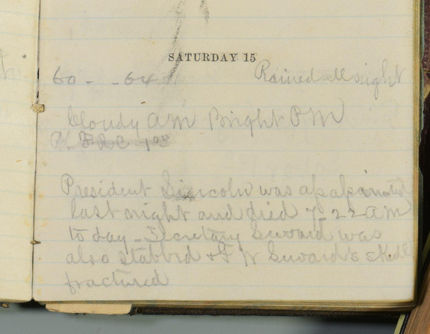 Lot 274: Civil War Era Diary of E.D. Hicks II