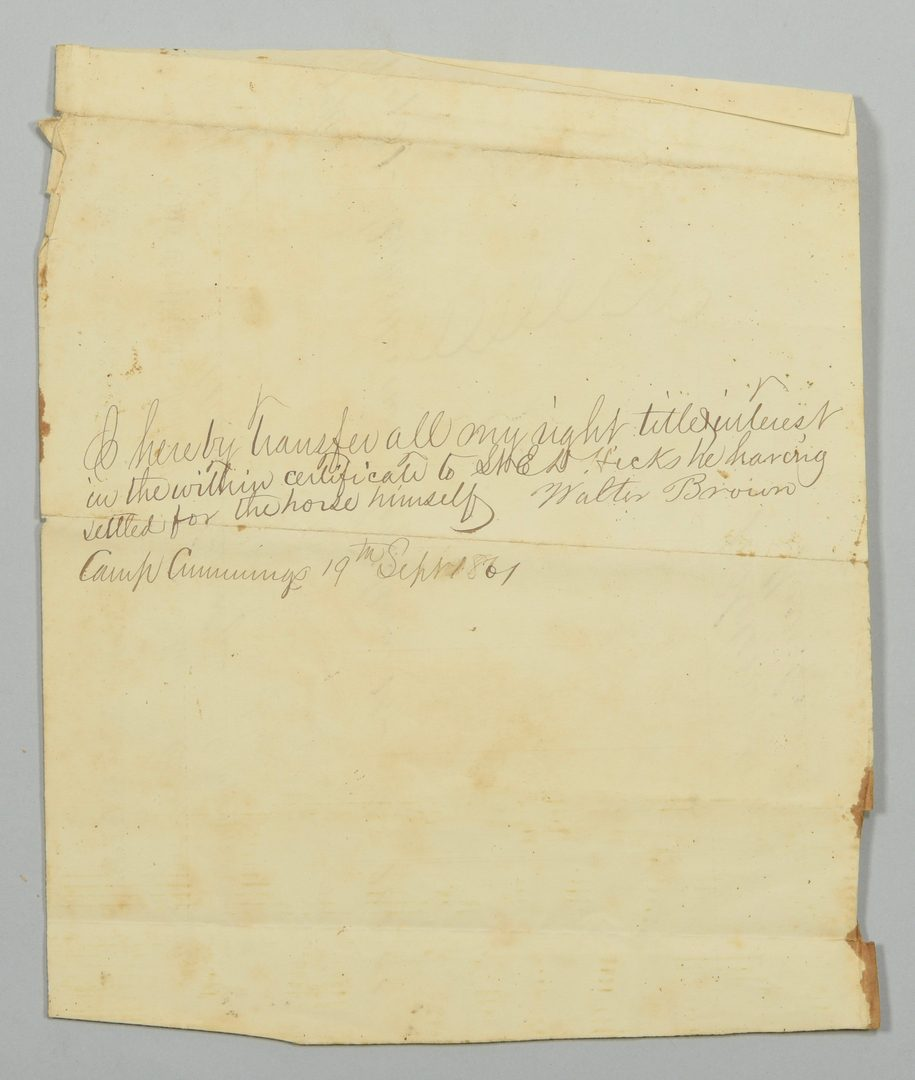 Lot 275: Ed Hicks II Civil War Ephemera