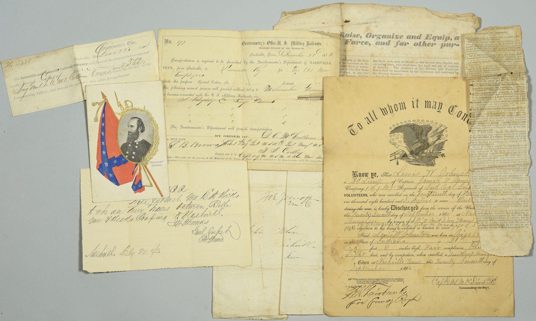 Lot 276: TN Civil War ephemera inc. Broadside and Zollicofer Sign.