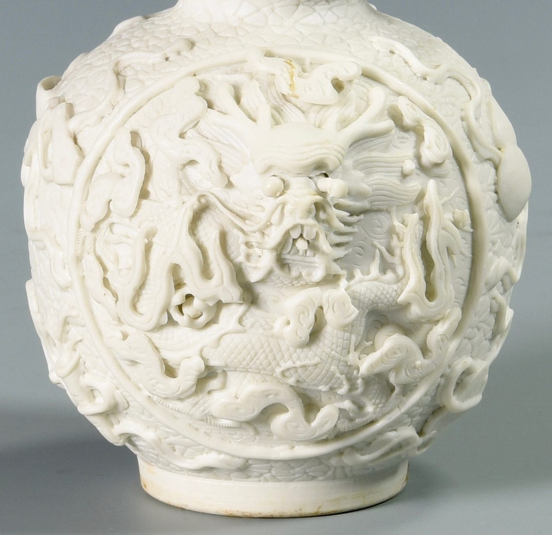 Lot 27: Chinese Biscuit Porcelain Double Gourd Vase