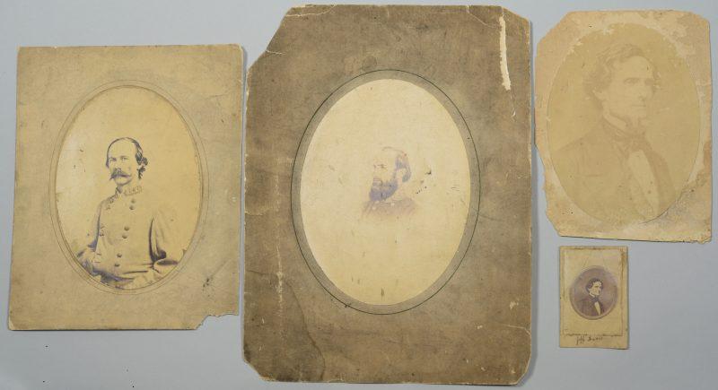 Lot 282: 4 Images of Confederates inc. Stonewall, Davis