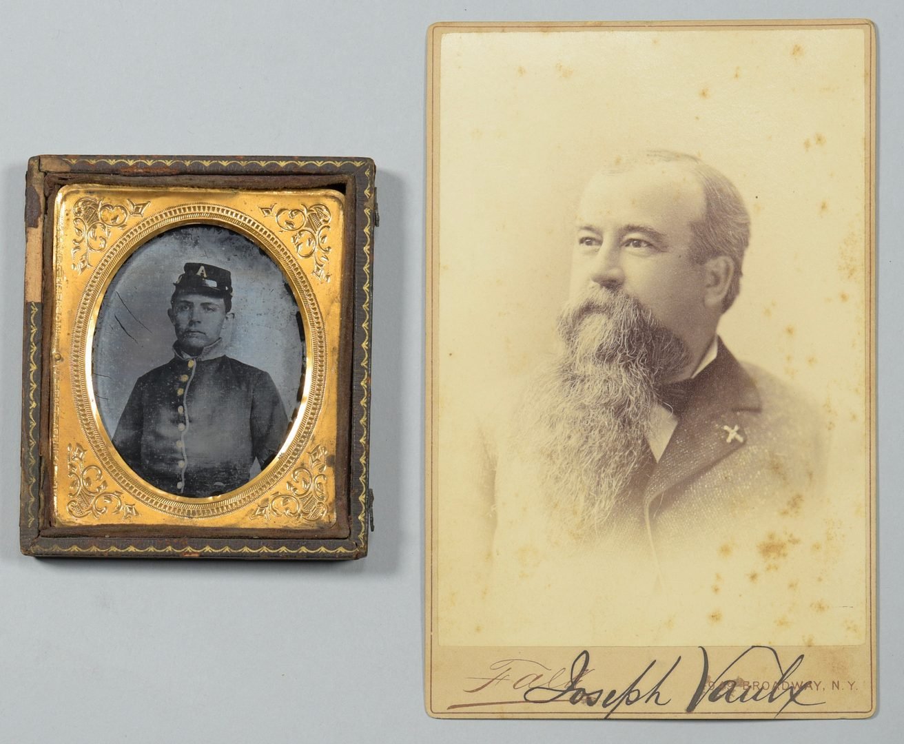 Lot 283: CSA Ambrotype, Signed Vaulx Photo, Broadside