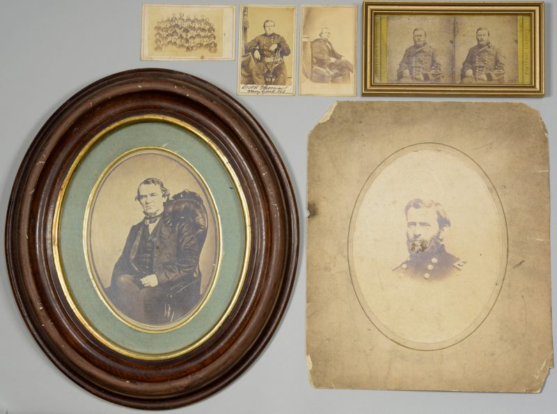 Lot 284: Civil War Photos inc. Thomas Signed CDV, Grant, Johnson