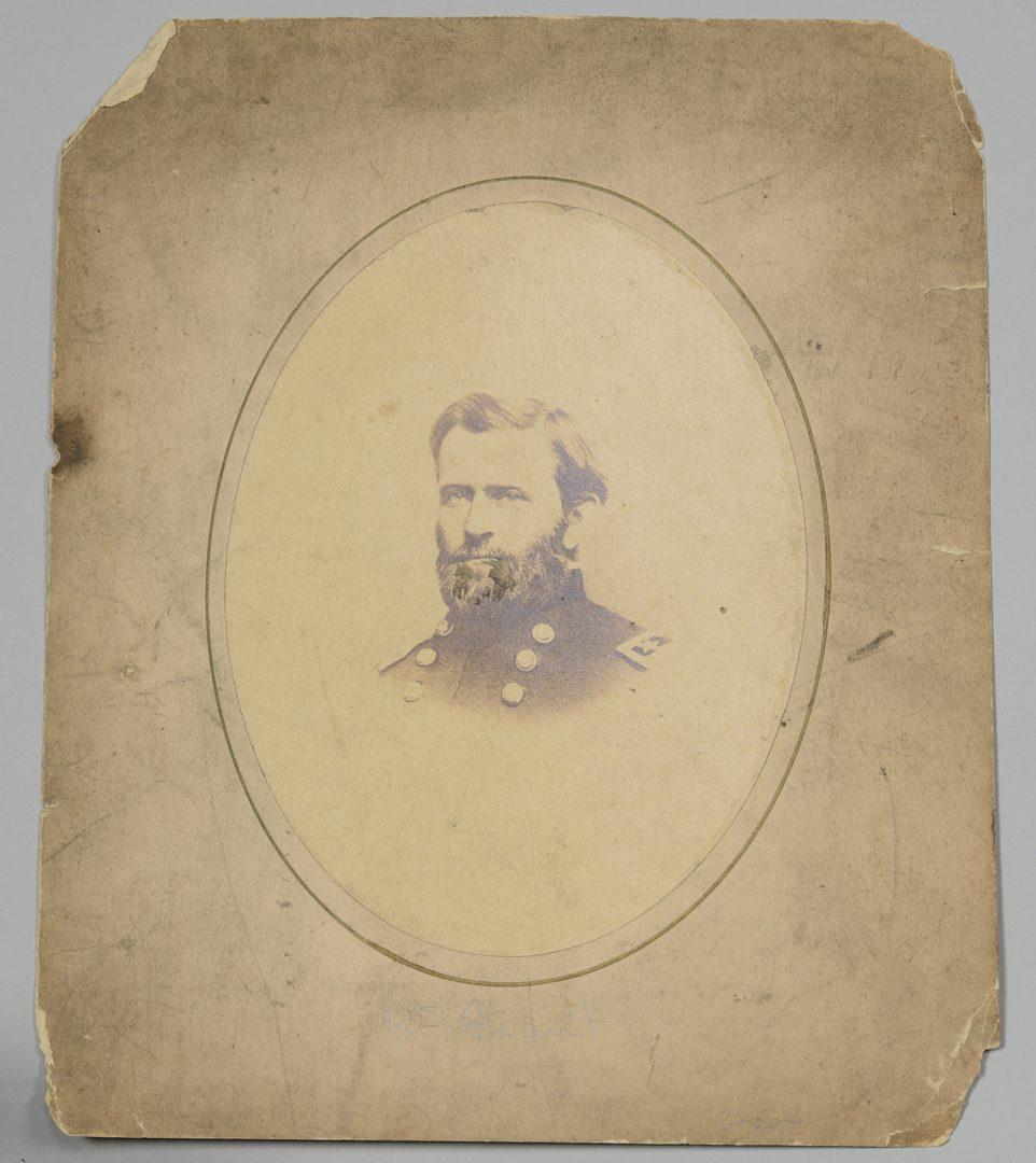 Lot 284: Civil War Photos inc. Thomas Signed CDV, Grant, Johnson