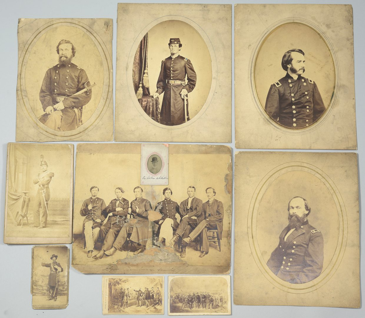Lot 285: Group of Union Officers, Gov. Brownlow Albumen Prints