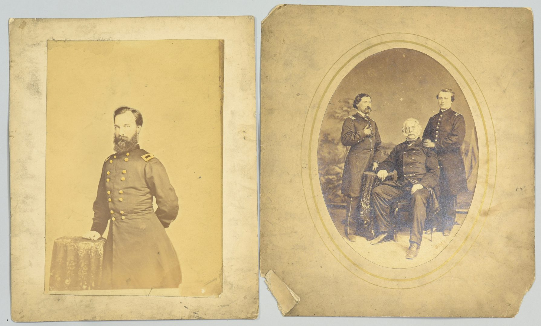 Lot 286: 6 Images Union Officers, incl. Ruger