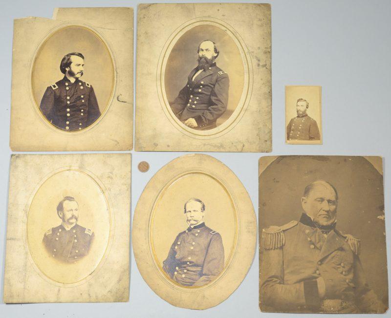 Lot 287: Union Officers CDVs & Albumen Prints