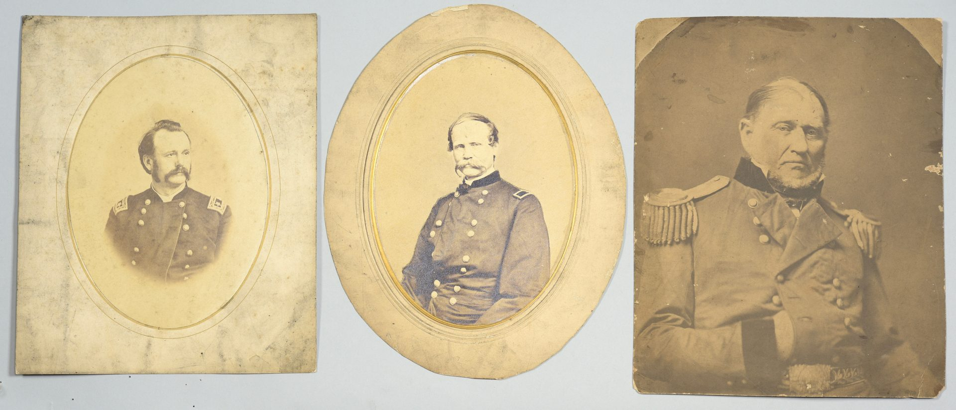 Lot 287: Union Officers CDVs & Albumen Prints