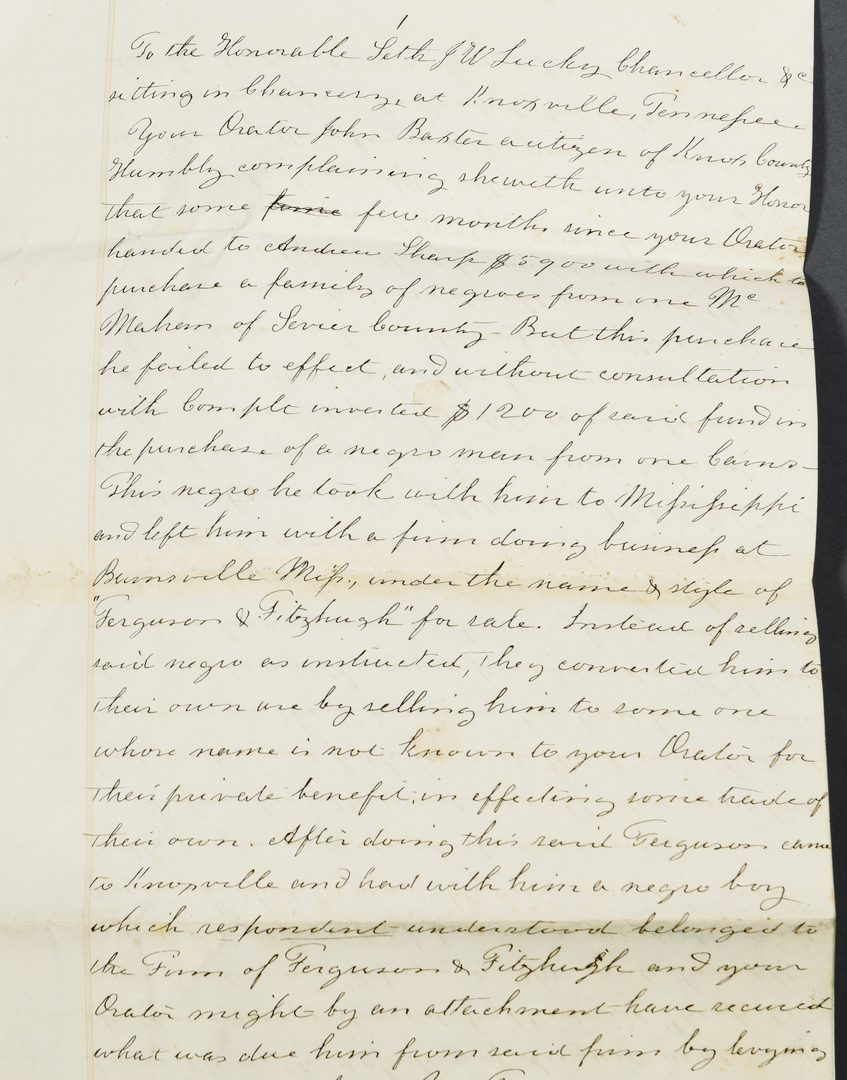 Lot 289: Civil War Archive of Jacob K. Lonas, Knoxville