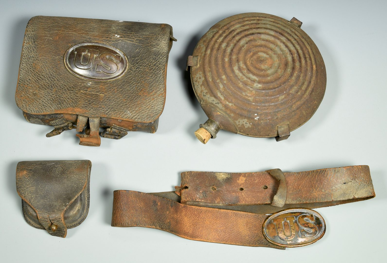 Lot 290: Grouping of 4 Civil War Military Items