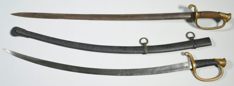 Lot 295: 2 Civil War Era Officer's Swords, Devon Farm