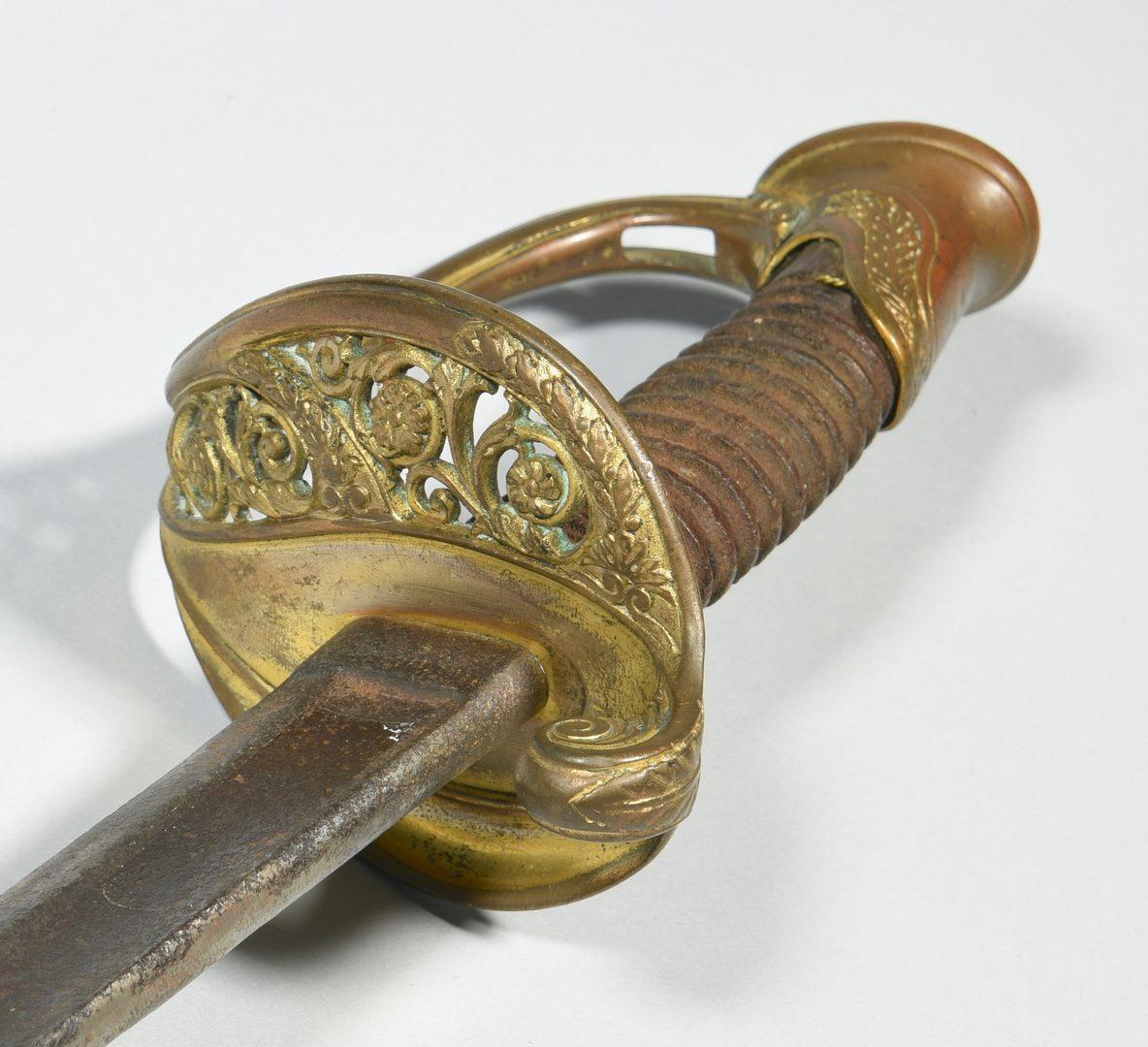 Lot 295: 2 Civil War Era Officer's Swords, Devon Farm