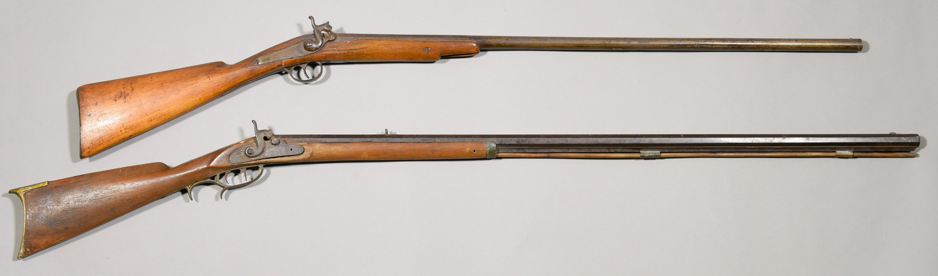 Lot 303: Kentucky Half Stock Rifle Marked Settle 1857 And Fowling Piece