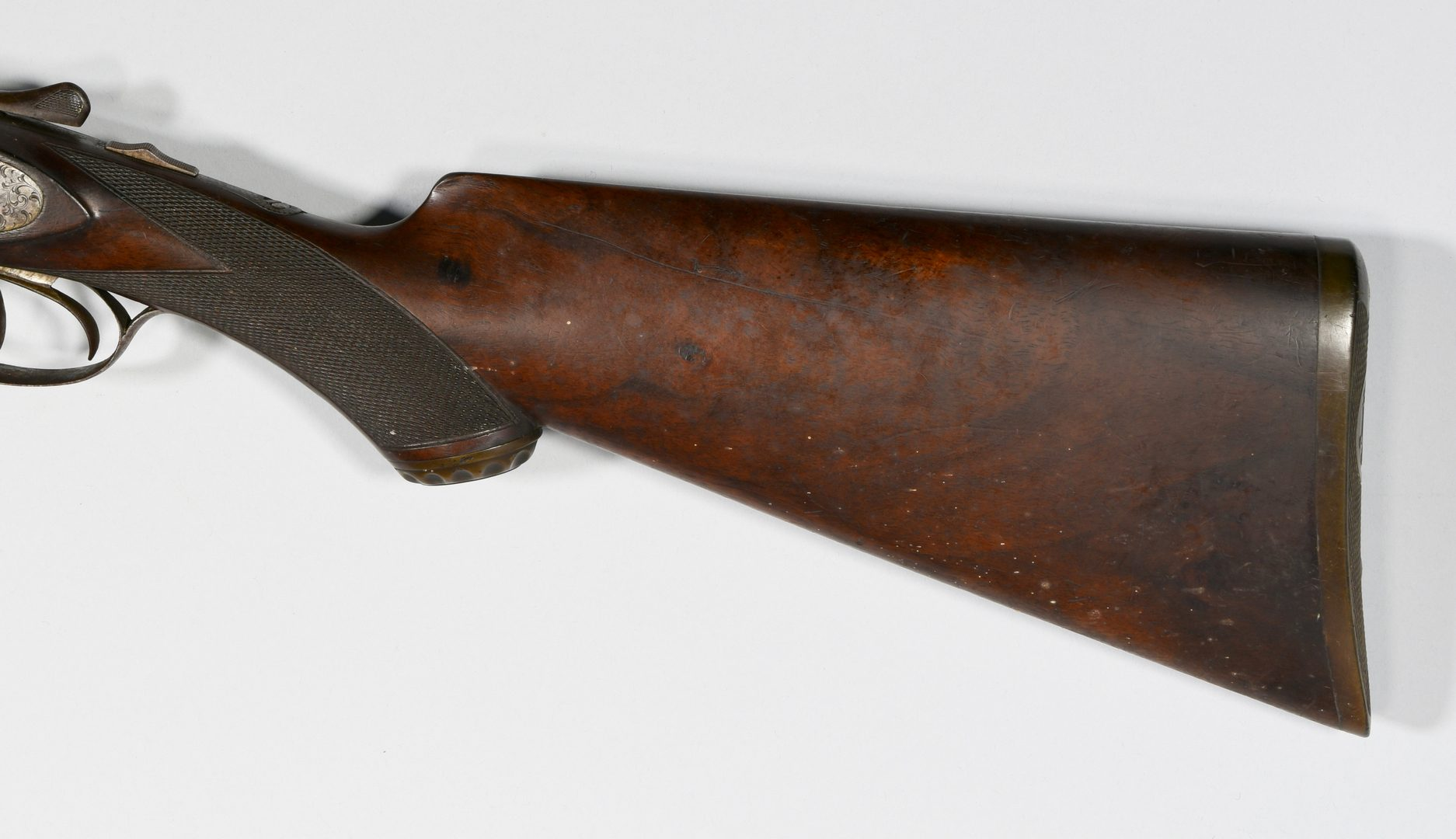 Lot 310: Lefever Arms Double Barrel Shotgun, Checkered Grid