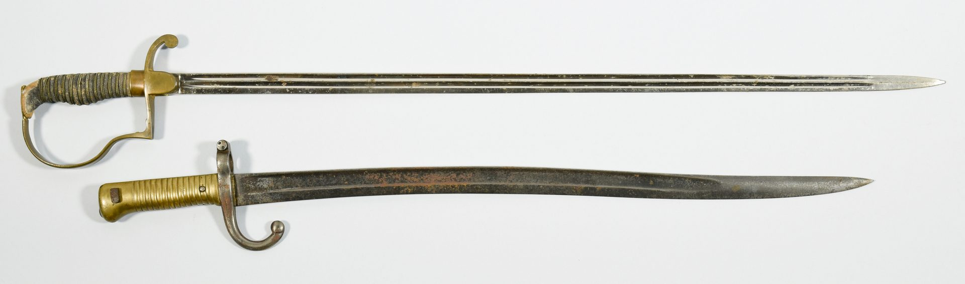 Lot 311: 4 European Swords and Bayonet
