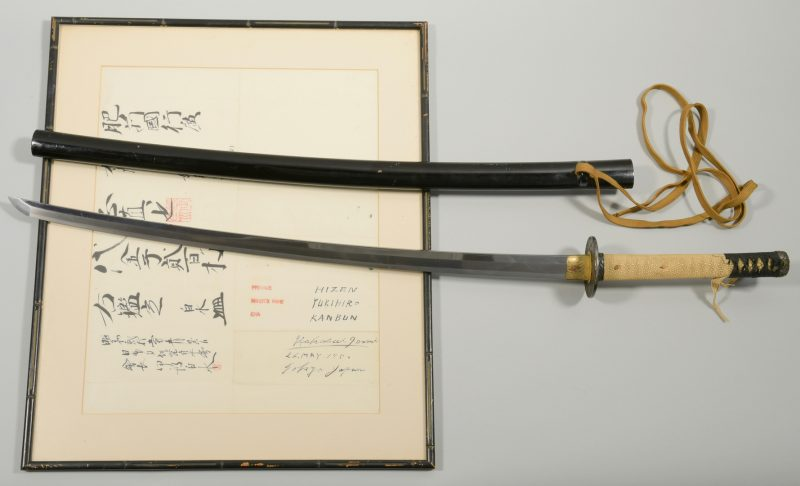 Lot 313: Kanbun Era Yukihiro Samurai Sword  w/ Authentication