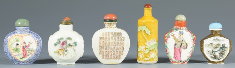 Lot 316: 6 Porcelain Snuff Bottles