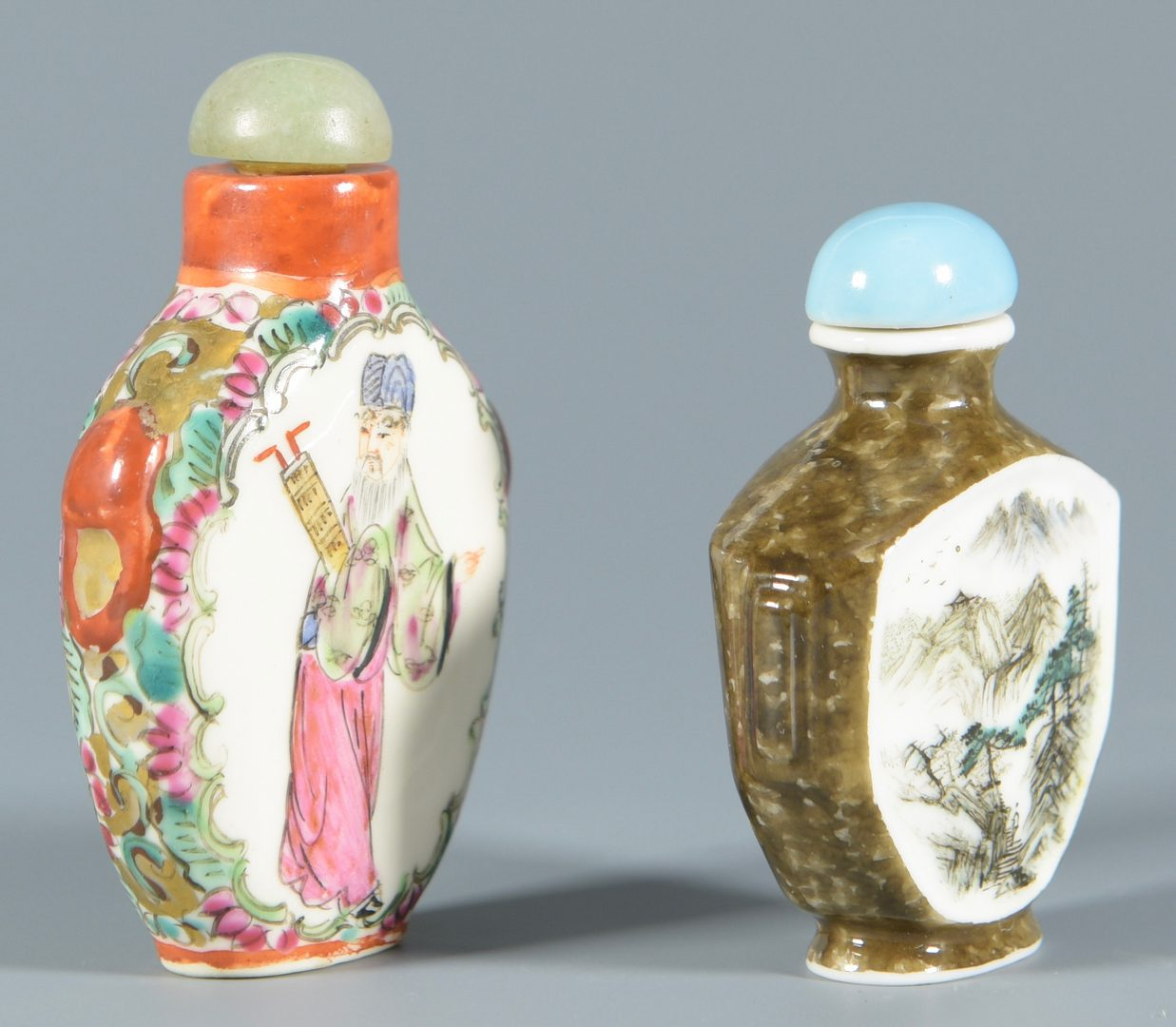 Lot 316: 6 Porcelain Snuff Bottles
