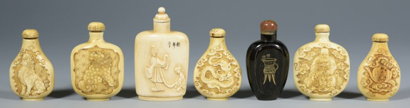 Lot 317: 7 Asian Snuff Bottles